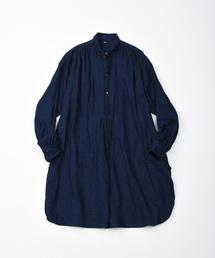 45R(フォーティファイブアール)の二重織のビッグシャツ(インディゴ)(シャツ/ブラウス)