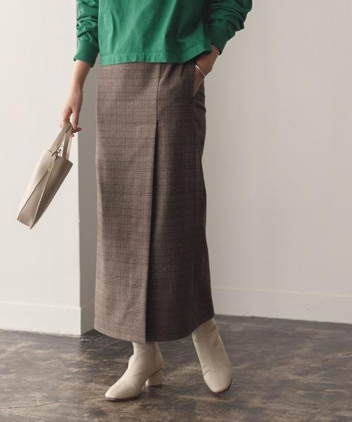 ADAM ET ROPE'(アダムエロペ)の「【セットアップ対応】ベンツディティールタイトスカート(スカート)」|ダークブラウン