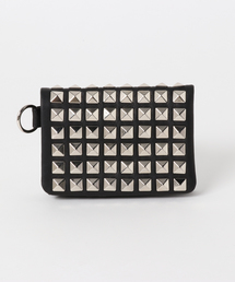 STUDS AND PINS LEATHERウォレットブラック