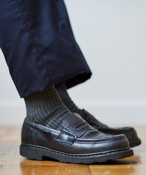 Tabio(タビオ)の「Tabio MEN/ さらりとした2×2リブソックス(ソックス/靴下)」|チャコール