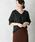 URBAN RESEARCH ROSSO WOMEN(アーバンリサーチ ロッソ)の「Vネックシャツブラウス(シャツ/ブラウス)」|ブラック
