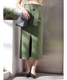 MURUA(ムルーア)のベルテットペンシルスカート(スカート)
