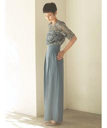 LAGUNAMOON(ラグナムーン)のLADYオーバーレースワイドパンツドレス【ZOZO限定】(ドレス)