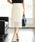 ViS(ビス)の「フラワーレースタイトスカート(スカート)」 ホワイト