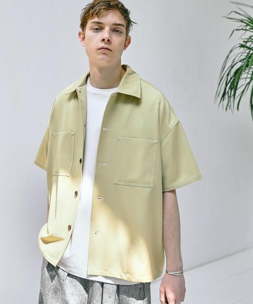 TRストレッチ ビッグステッチ オーバーボックス レギュラカラーシャツ CPO シャツ 1/2 sleeve EMMA CLOTHES 2021 SUMMER