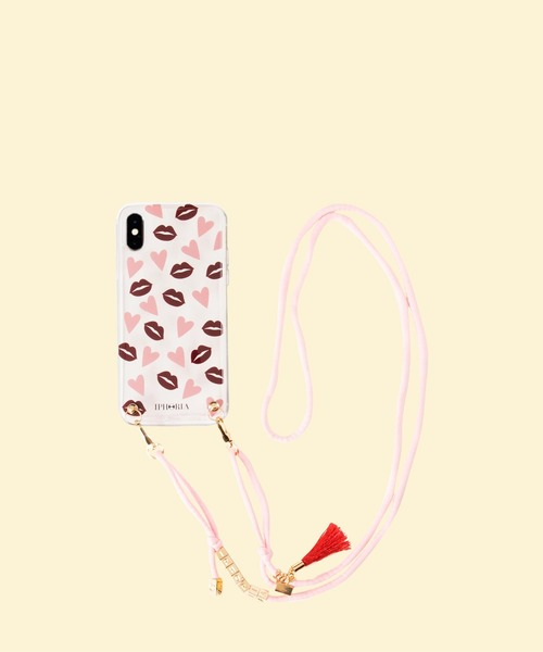 iphoria(アイフォリア)の「【IPHORIA アイフォリア】アイフォンケース ショルダーケース Necklace Case for Apple iPhone XS Max- Necklace case collection(スマホケース/カバー)」|レッド