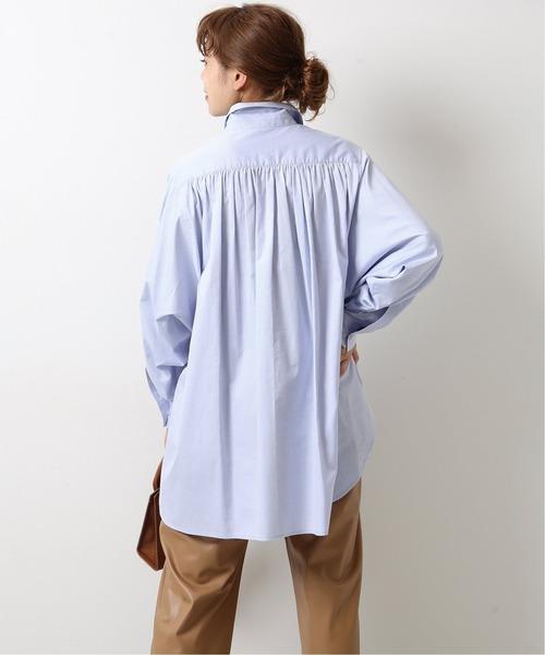 Spick & Span(スピックアンドスパン)の「バックギャザーオックスシャツ◆(シャツ/ブラウス)」|ブルー