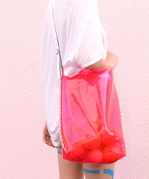 【proef】PVC ショルダーバッグ/クリアバッグ/ビニールバッグ