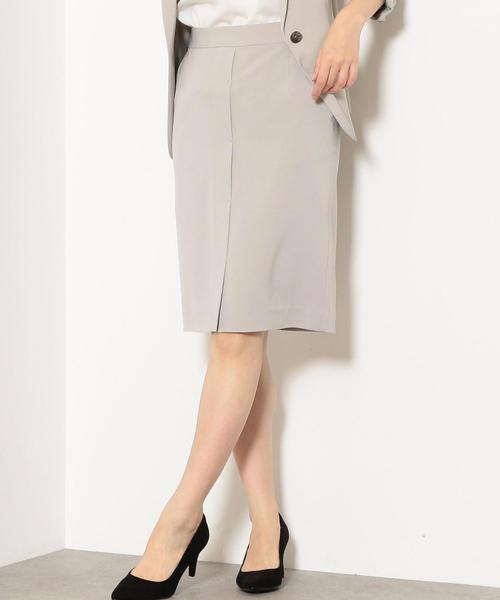 [手洗い可能/シルキーツイル] ◆D デザイン タイトスカート