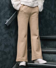 Audrey and John Wad WOMENS(オードリーアンドジョンワッドウィメンズ)の「WEARISTA「潮田あかり」コラボ企画第2弾 裏起毛フレアパンツ【WEB限定】(パンツ)」