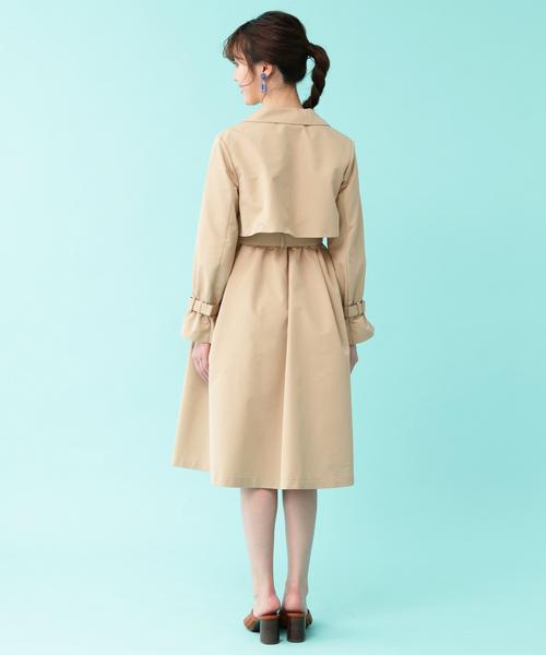 ◆ロングドレストレンチ コート