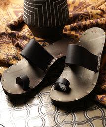 JUTTA NEUMANN/ユッタ ニューマン HERMES with Birkenstock sole/エルメス レザーサンダル(サンダル)