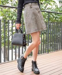 Heather(ヘザー)のチェックリバーシブルミニスカート 853292(スカート)