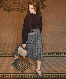 Noela(ノエラ)の「先染めチェックスカート(スカート)」