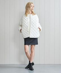 <H>CHINTZ QUILTED JACKET/ジャケット