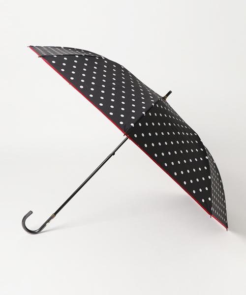 ●晴雨兼用●C/Cドットプリントショートワイド折りたたみ傘 27359