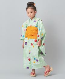 【WEB限定】<三勝>女児用浴衣(7歳〜8歳)
