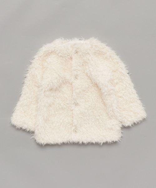 ノーカラーシープボアライトジャケット
