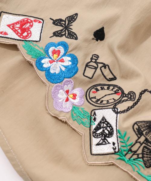 デニムヨーク刺繍ワンピース