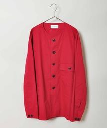 【LEMAIRE】ノーカラーオーバーシャツ(シャツ/ブラウス)