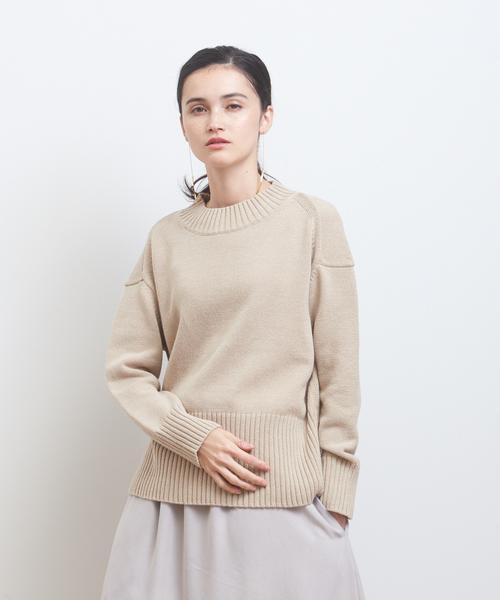 collex(コレックス)の「綿アクリルプルオーバーニット(ニット/セーター)」|ベージュ