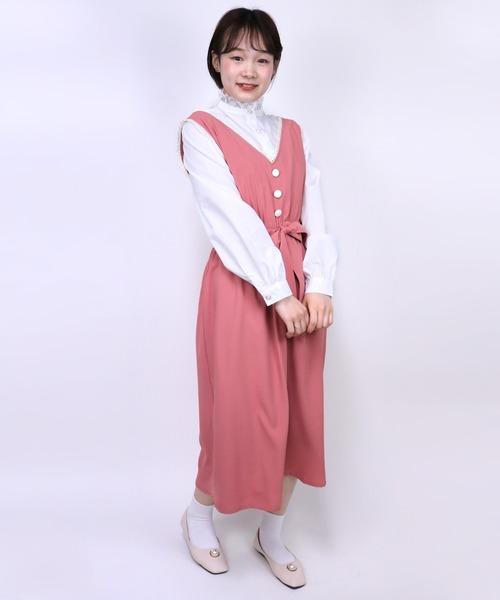Clice de Paris(クリシェドゥパリス)の「二配色ベストジャンスカ(ジャンパースカート)」 ピンク