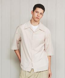 <LEMAIRE>CONVERTIBLE COLLAR SHORT SLEEVE SHIRT/シャツ.