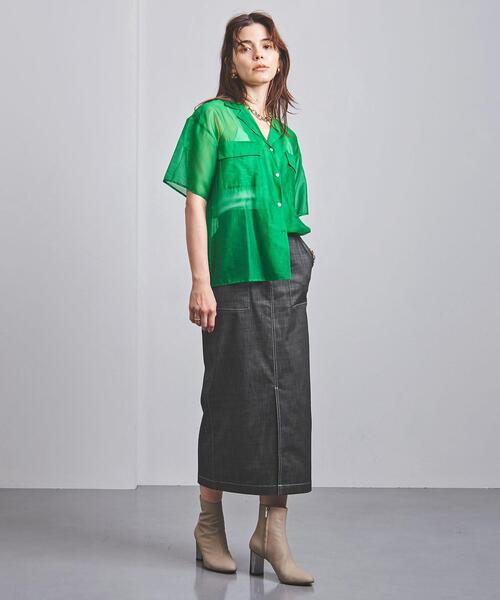 <UNITED ARROWS>デニム ポケット タイトスカート W