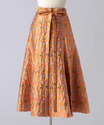 < BLAMINK(ブラミンク)> P P/A/N FLW JQ FLA OG スカート