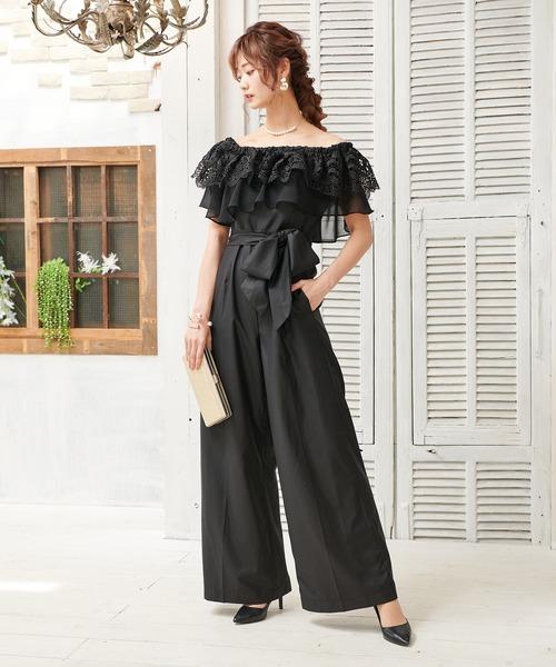本物 【セール】オフショルダー レース オールインワン パンツ ワイドパンツ レース ドレス パンツ ドレス 結婚式 フォーマル パーティードレス(ドレス)|DRESS LAB(ドレスラボ)のファッション通販, リサイクルきものせんしょう:60ef0294 --- so-called.poicommunity.de