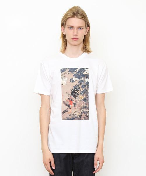 コラボレーションTシャツ/伊藤若冲(紫陽花双鶏図)