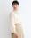 merlot plus(メルロープリュス)の「シフォンフラワードット刺繍ギャザーネックブラウス1029(シャツ/ブラウス)」 ベージュ