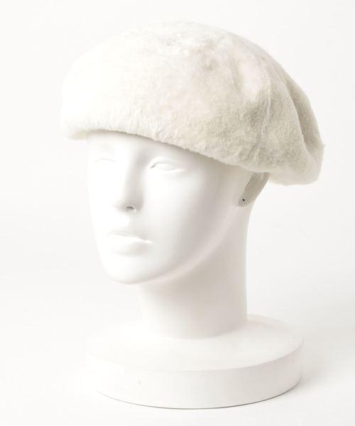 無(ム)の「もふもふベレー(ハンチング/ベレー帽)」|アイボリー