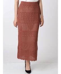 MERCURYDUO(マーキュリーデュオ)のクロシェニットタイトスカート(スカート)