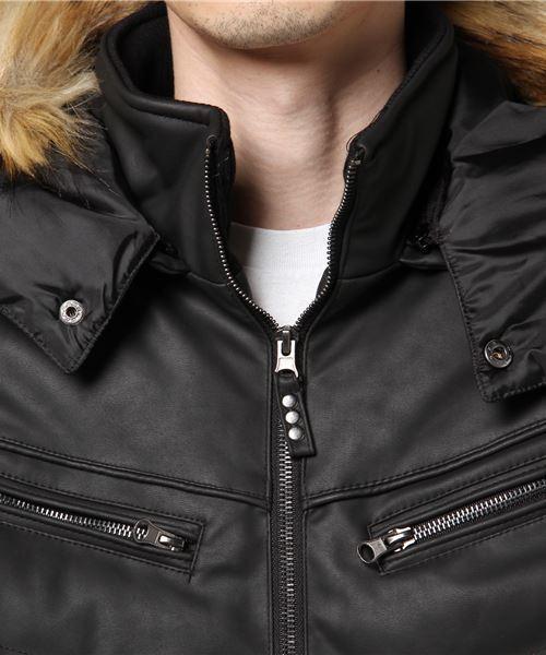 VIBGYOR Select/ 湿式PUフェイクファー中綿ジャケット