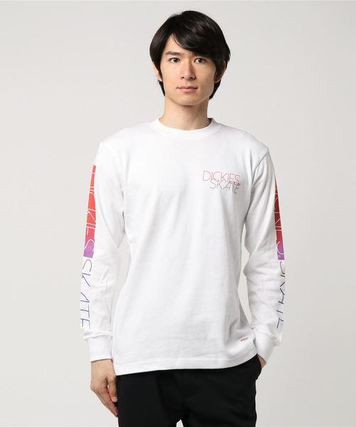 Dickies (ディッキーズ) プリントルーズフィット厚手長袖Tシャツ