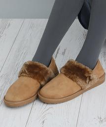 BASE(ベース)の撥水加工2WAYムートンブーツバブシュースエードショート丈ブーツ(ブーツ)