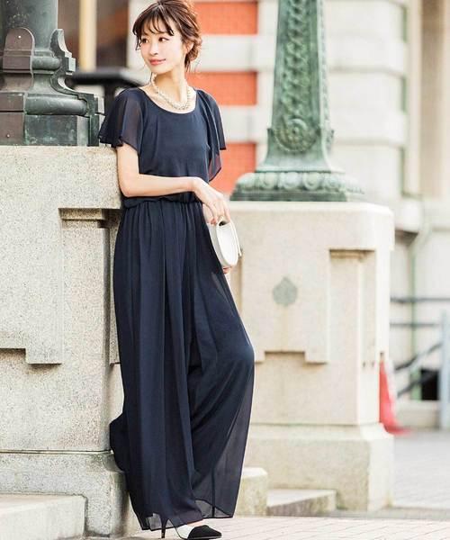 4f7af19c2c22d Fashion Letter(ファッションレター)のフリル袖 オールインワンパンツドレス(ドレス)