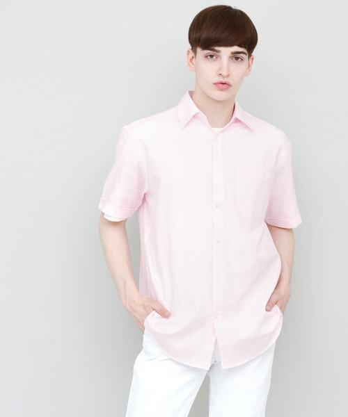 リラックスオーバーサイズオックスフォードシャツ Summer Oxford Shirts 1/2 sleeve
