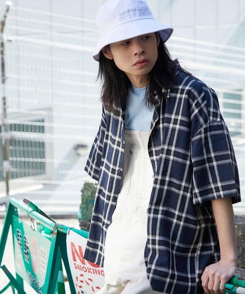 【BASQUE -enthusiastic design-】ビッグシルエット チェックパターンシャツ
