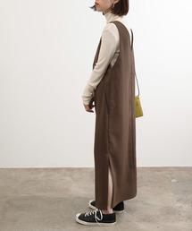 ADAM ET ROPE'(アダムエロペ)の【WEB限定】Iラインジャンパードレス(ジャンパースカート)