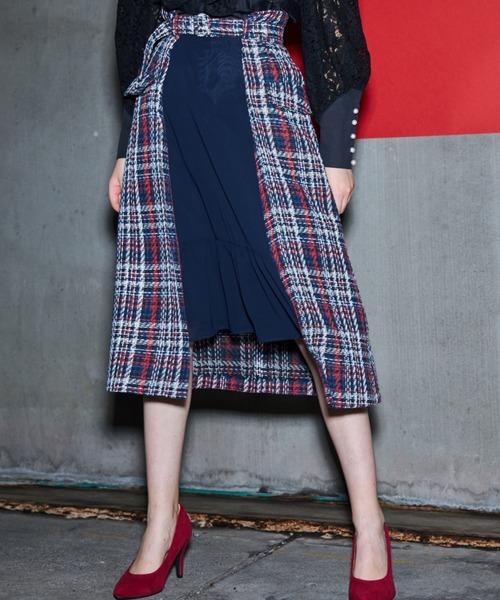 【高価値】 Wing Waist Skirt PAMEO Waist Skirt Mix(スカート)|PAMEO POSE(パメオポーズ)のファッション通販, 菖蒲町:00395ff7 --- wm2018-infos.de