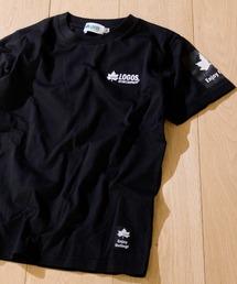 LOGOS(ロゴス)の【30】〔LOGOS/ロゴス〕天竺ロゴ刺繍Tシャツ 半袖(Tシャツ/カットソー)