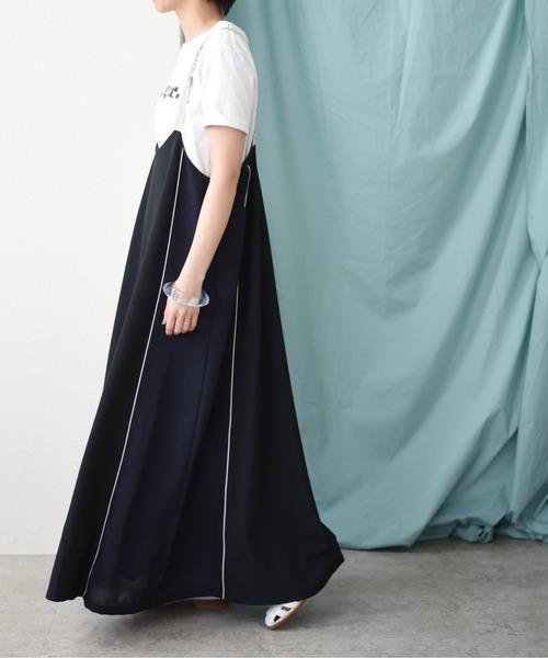ビットパーツポイントサロペットドレス