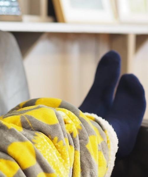 【 MAISON BLANCHE / メゾンブランシュ 】 ぽかぽかフランネルポケット付きブランケット hokahoka blanket DII