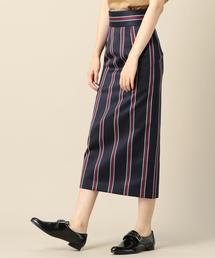 BY TRADITIONAL レジメンタルストライプタイトスカート ◆