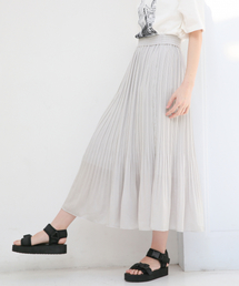 LOWRYS FARM(ローリーズ ファーム)のサテンケシプリーツスカート 825257(スカート)