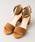 Rewde(ルゥデ)の「アンクルストラップ付サンダル(9R18-SA12)(サンダル)」|キャメル