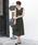 TRUDEA(トルディア)の「ベルト付き Vネックロングワンピース/ 結婚式・成人式・謝恩会ワンピース・パーティードレス(ドレス)」|カーキ