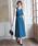 TRUDEA(トルディア)の「ベルト付き Vネックロングワンピース/ 結婚式・成人式・謝恩会ワンピース・パーティードレス(ドレス)」|グリーン